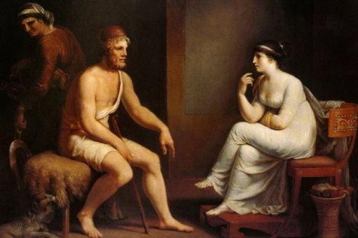 Эвриклея, няня-рабыня Одиссея, которая узнала его по шраму на ноге