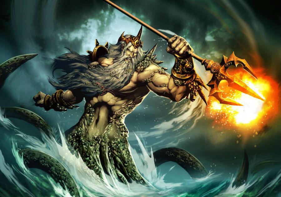 Посейдон (Нептун) — сын Кроноса и Реи, бог моря.