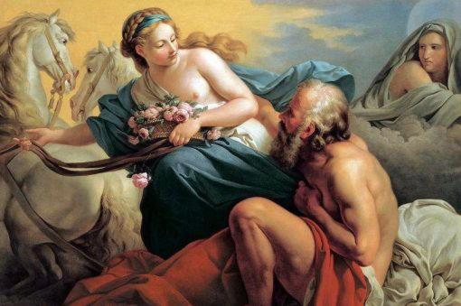 Эос, богиня утренней зари, дочь титана Гипериона