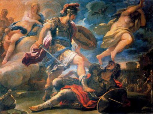 Турн, царь рутулов, погибший в поединке с Энеем