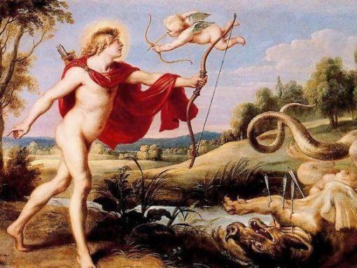 Пифон (Питон, Дельфиний), дракон, сын богини Геи, убитый Аполлоном под Парнасом
