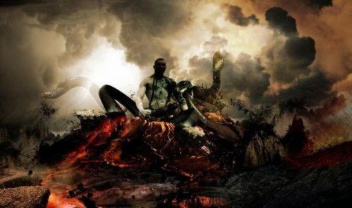 Тифон (Тифоэй, Тифаон), чудовищный великан с сотней драконьих голов
