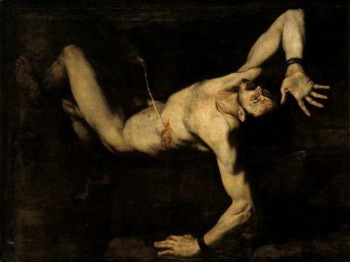 Титий, могучий отец Европы, убитый Зевсом за Лето