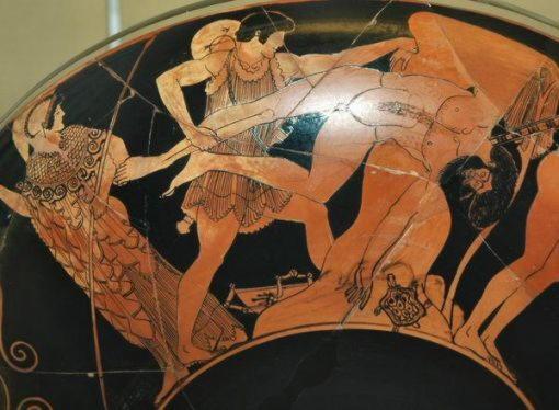 Скирон, разбойник, сын Посейдона, убитый Тесеем
