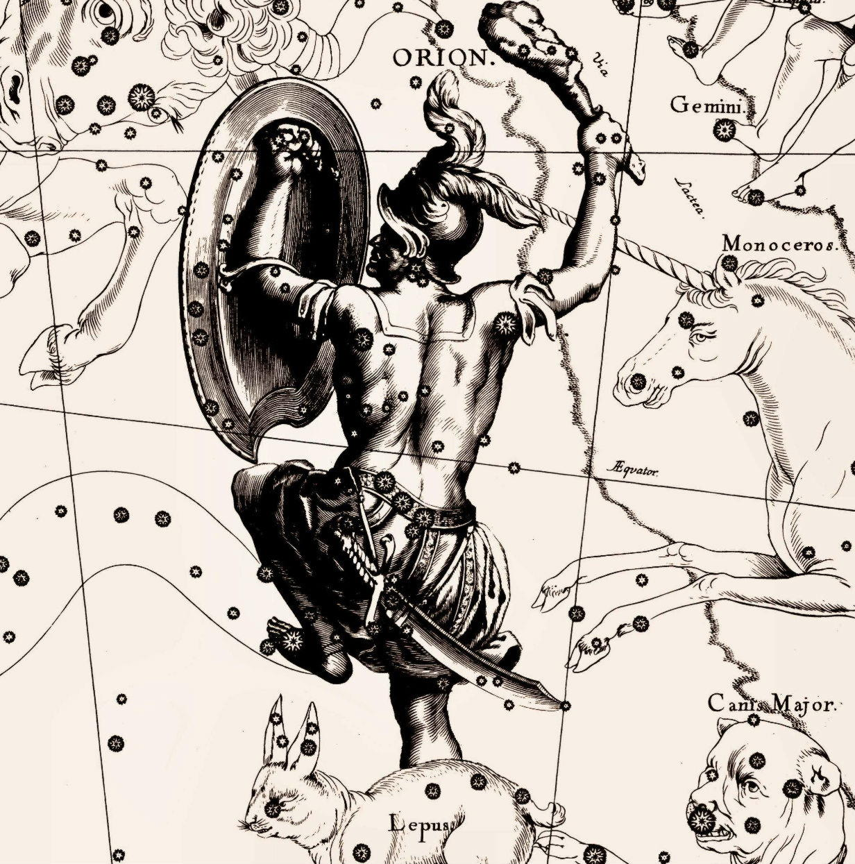 Орион, греч. — сын Посейдона и его возлюбленной Эвриалы, прославленный охотник.